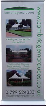 Executive Roll Up Banner - Cambridge Marquees